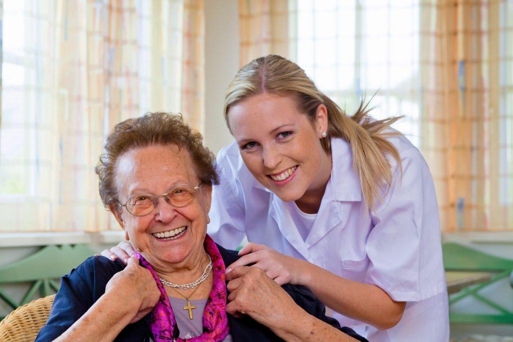 16392624 - a home care nurse visits a patient